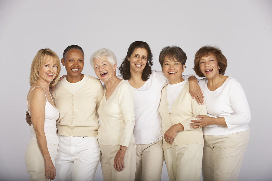 Group of mature and senior women, smiling, portrait Photograph by Ariel Skelley