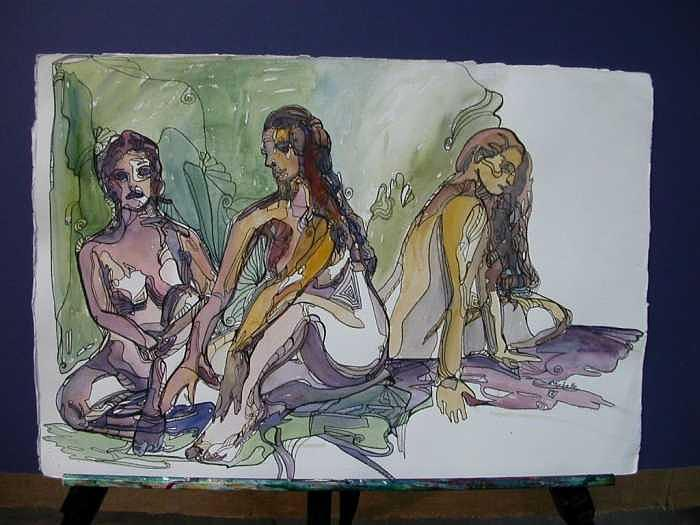 Group Of Women Painting by Michelle Gonzalez