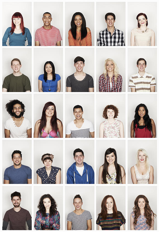 Group portrait of young men and women Photograph by Flashpop