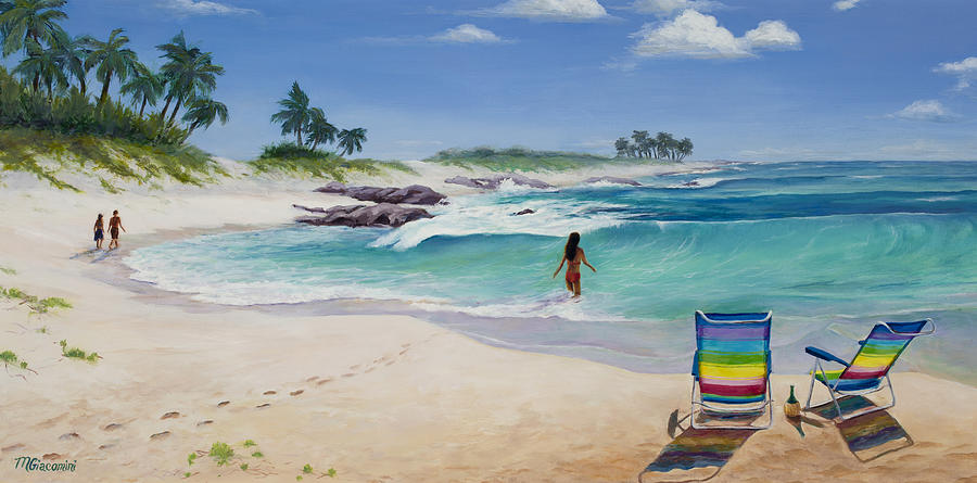 Hawaii Painting - Group Therapy by Mary Giacomini