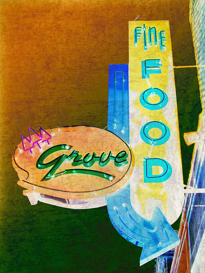 Retro Photograph - Grove Fine Food Var 3 by Gail Lawnicki