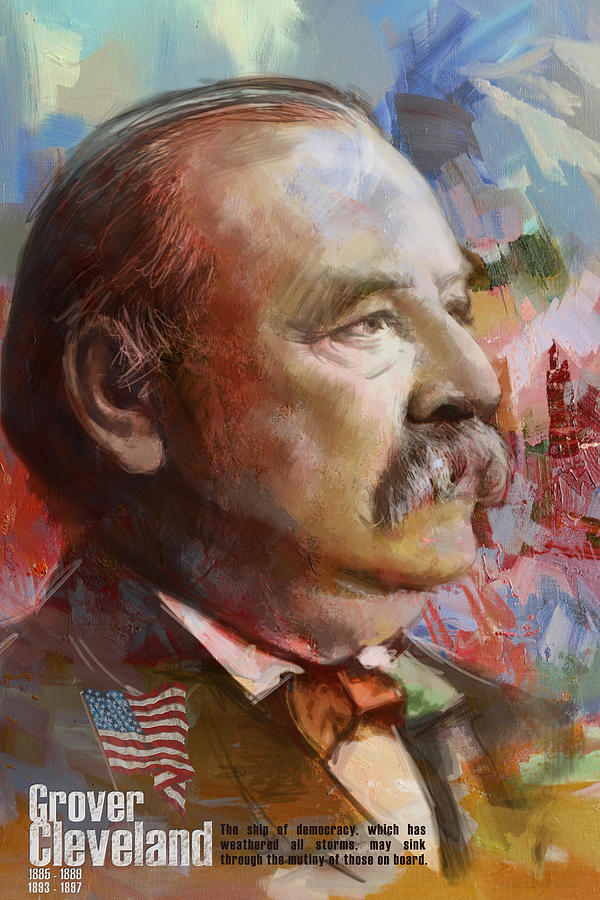 Grover Cleveland Painting - Grover Cleveland by Corporate Art Task Force