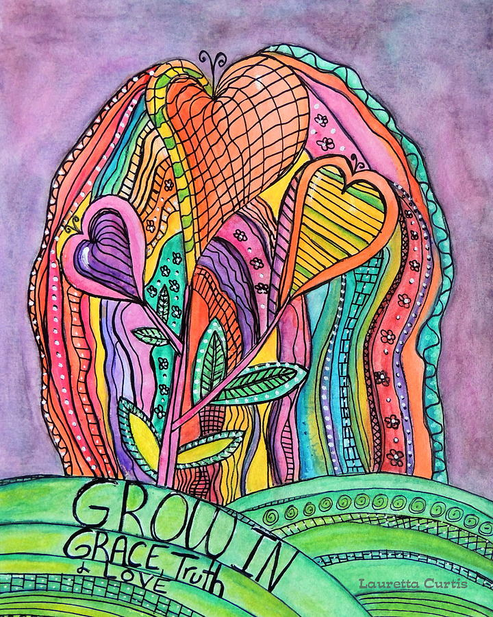 Grow In Grace Painting by Lauretta Curtis