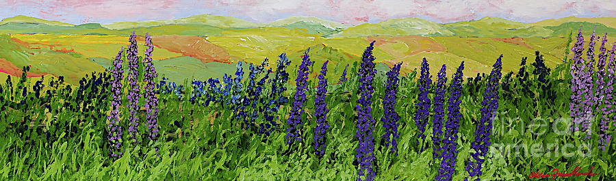 Landscape Painting - Growing Tall by Allan P Friedlander
