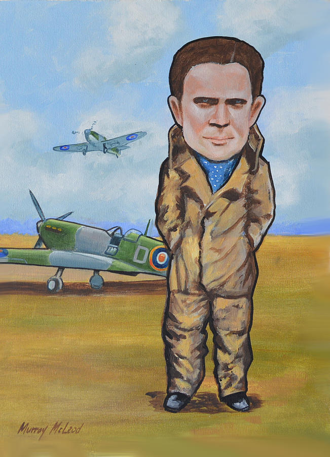 Aviation Art Painting - Grp. Capt. Douglas Bader by Murray McLeod