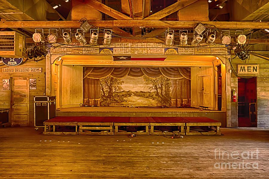 Gruene Hall Photograph - Gruene Hall by Priscilla Burgers