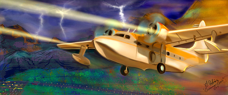 Airplanes Painting - Grumman Goose by Gerry Robins