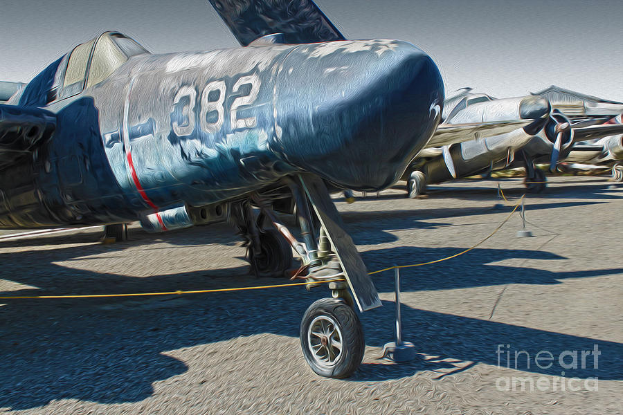 Aircraft Painting - Grumman Tigercat F7f-3n  -  01 by Gregory Dyer