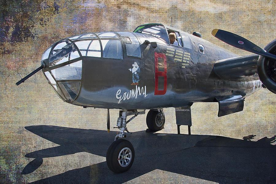 B-25 Photograph - Grumpy  B-25 D Mitchell Bomber  /  43-3318 by Daniel Hagerman