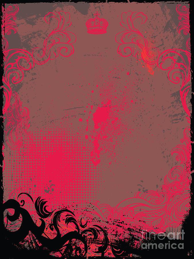 Curl Digital Art - Grunge Background by Maksbart