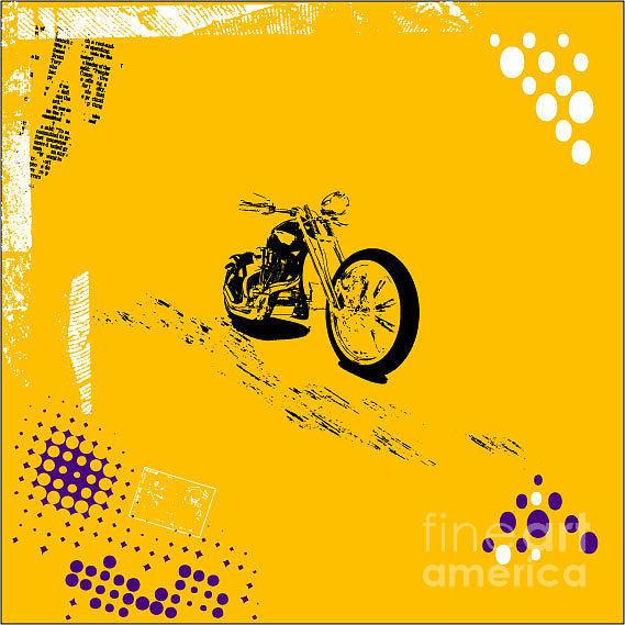 Chopper Digital Art - Grunge Background Vector by Elanur Us