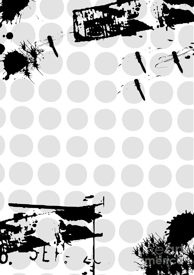 Torn Digital Art - Grunge Background With Dragonfly by Ozkan