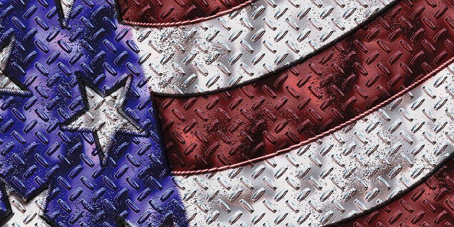 Flag Digital Art - Grunge Flag by Rick Bartrand