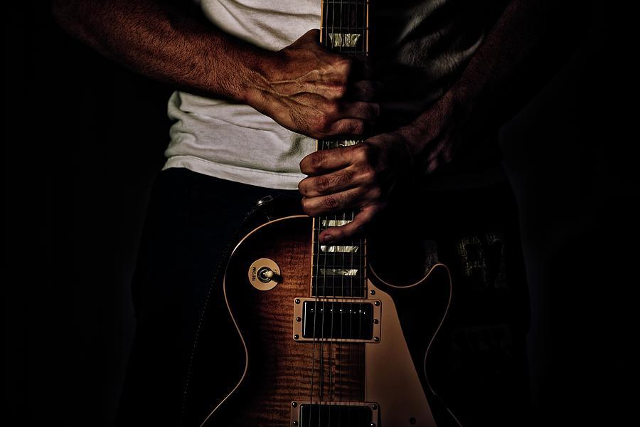 Grunge Guitar Photograph by David Hartwell