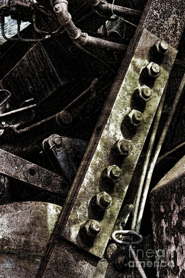 Industrial Photograph - Grunge Industrial Machinery by Olivier Le Queinec