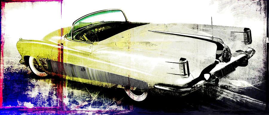 Vintage Digital Art - Grunge Retro Car by David Ridley