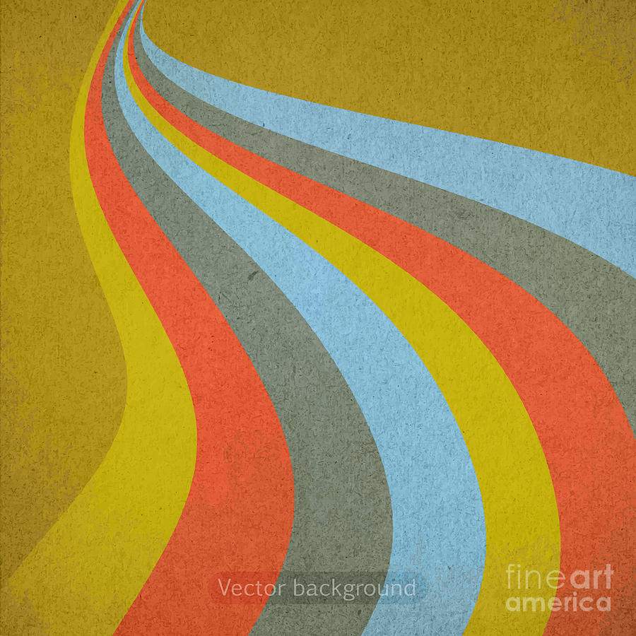 Carton Digital Art - Grunge Retro Vector Background by Leksustuss