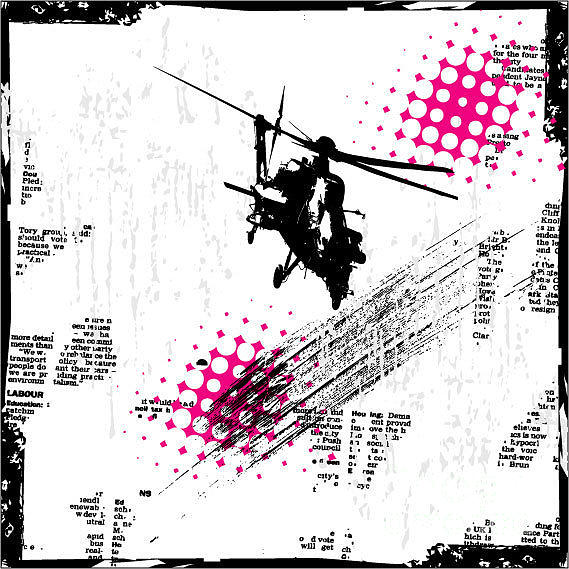 Newspaper Digital Art - Grunge Vector Background Illustration by Elanur Us