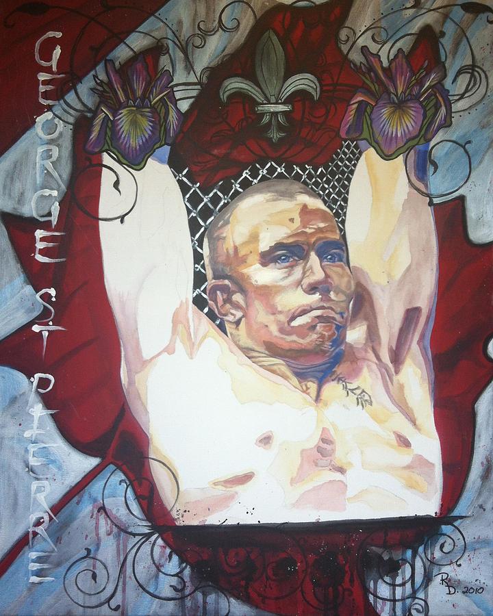 George St Pierre Painting - GSP by Rayna DeHoog