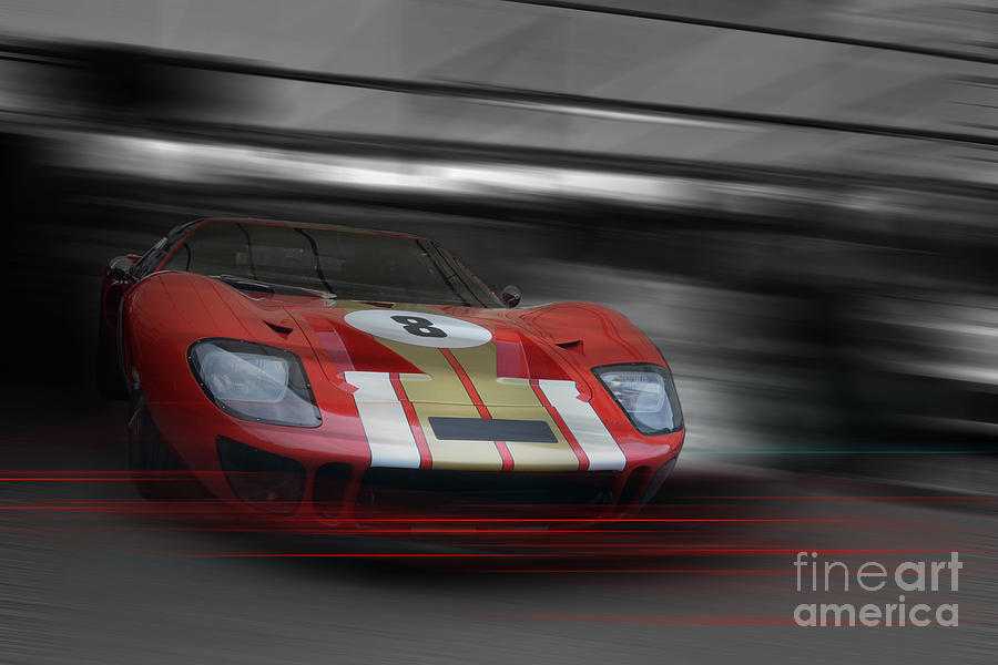 Ford Photograph - Gt40 Red by Roger Lighterness