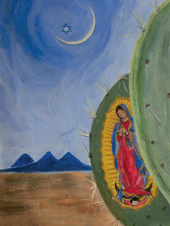 Guadalupe image Painting by Illusions Maya