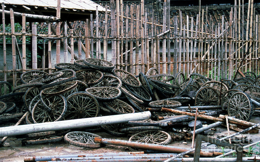 Guangzhou Photograph - Guangzhou Tires by Scott Shaw