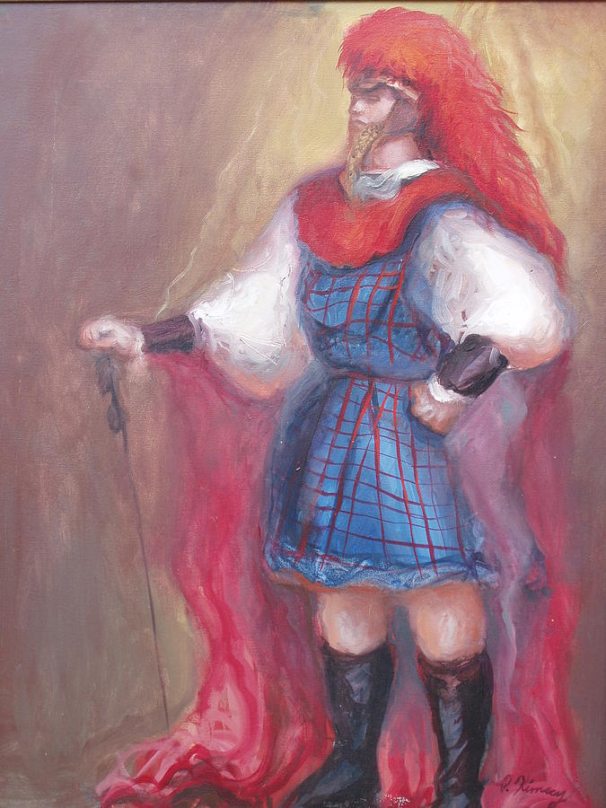 Guard Painting - Guard Stance by Patricia Kimsey Bollinger