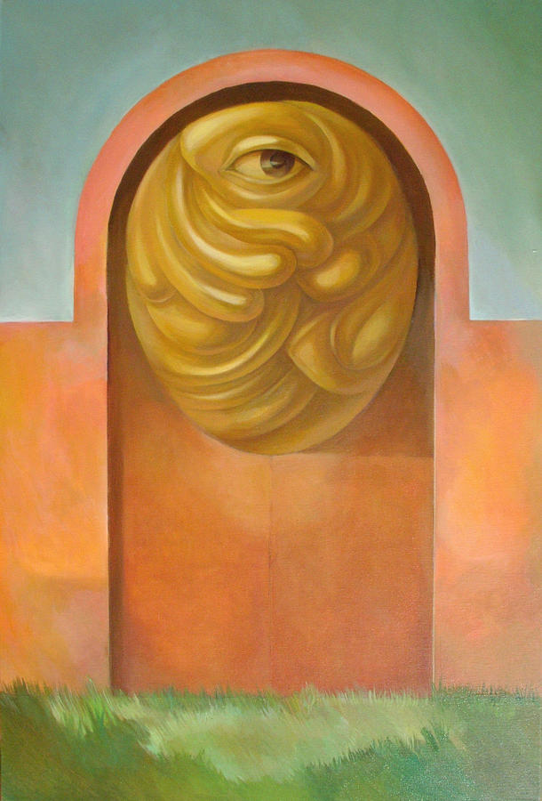 Surreal Painting - Guarded Gate by Filip Mihail