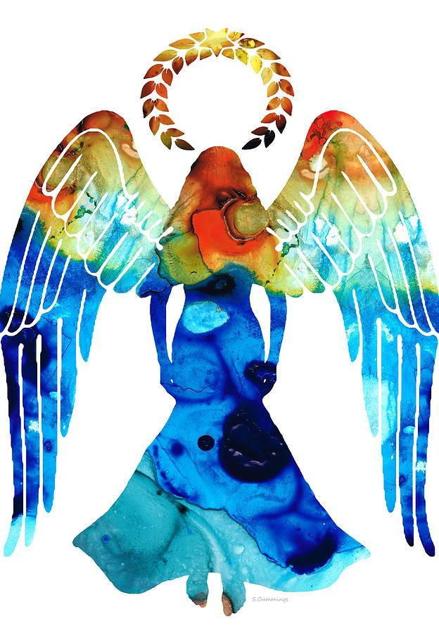 Guardian Painting - Guardian Angel - Spiritual Art Painting by Sharon Cummings