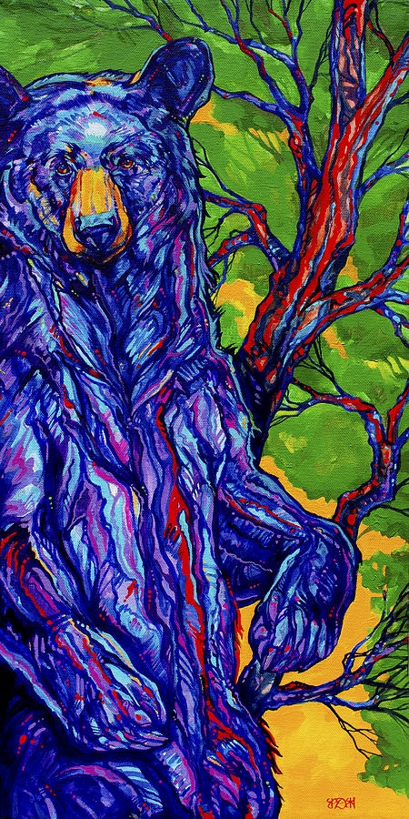 Bear Painting - Guardian Bear by Derrick Higgins