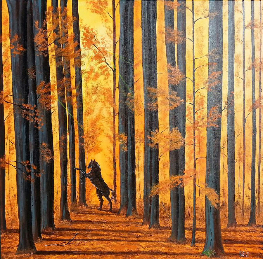 Horse Painting - Guardian by Jody Poehl