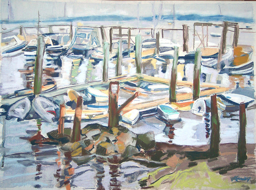Maine Pastel - Guardians Of The Harbor by Grace Keown