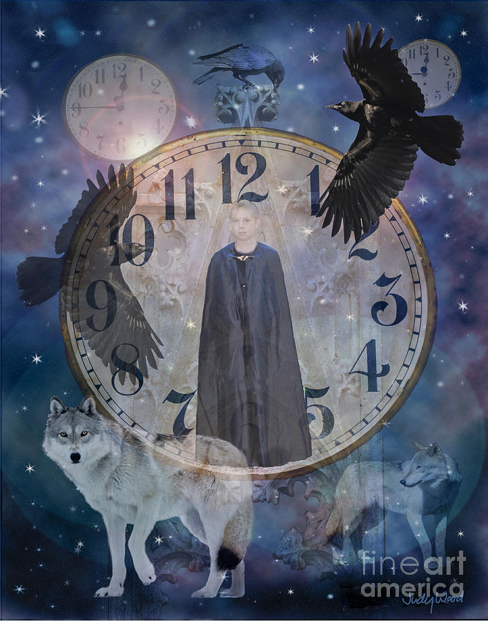 Night Digital Art - Guardians Of Time by Judy Wood