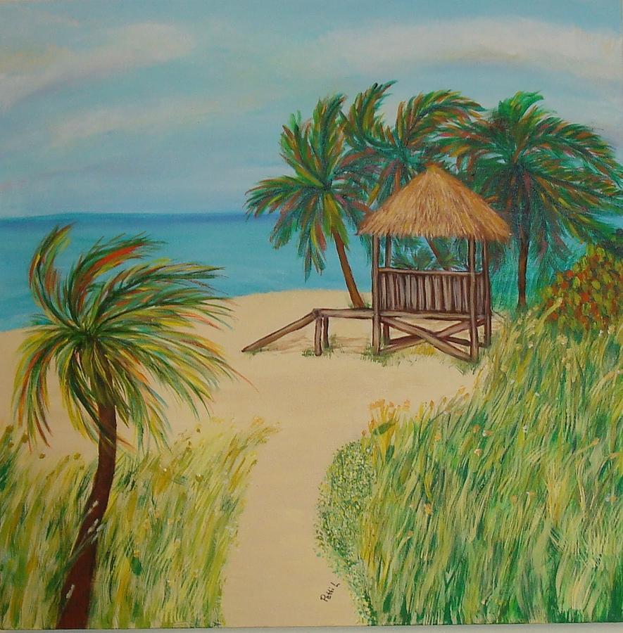 Landscape Painting - Guarding The Beach by Patti Lauer