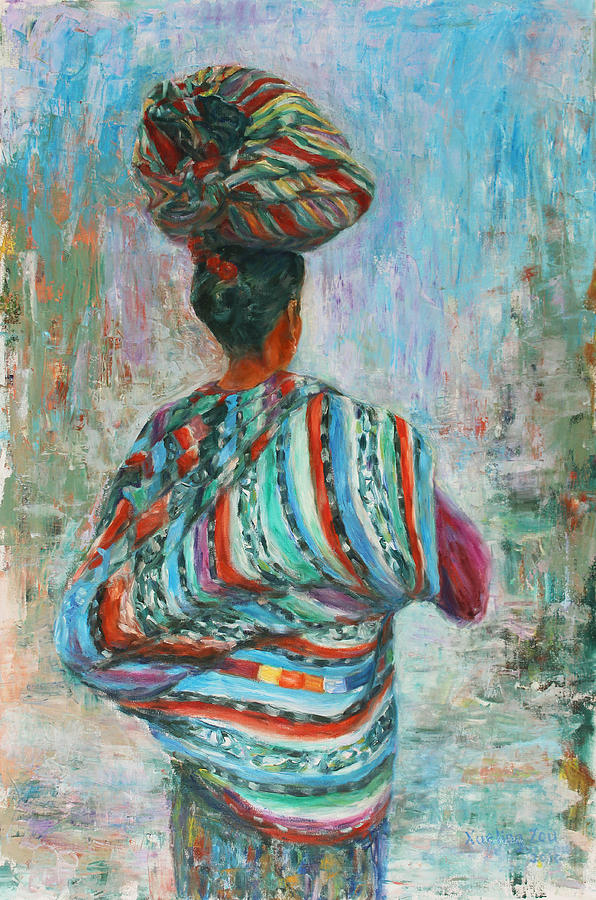 Figurative Painting - Guatemala Impression I by Xueling Zou
