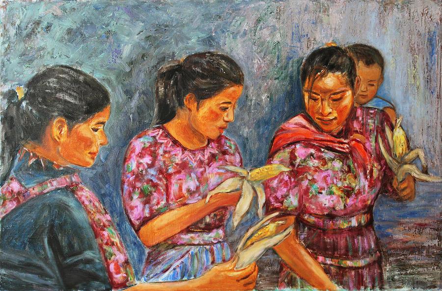 Latin American Painting - Guatemala Impression IIi by Xueling Zou