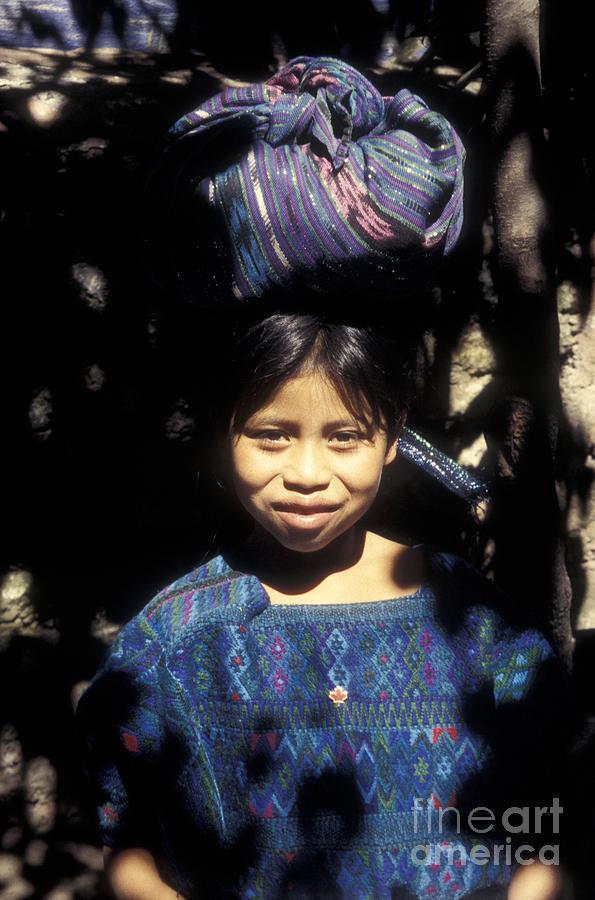 Guatemala Photograph - Guatemala Smiling Maya Girl by John  Mitchell