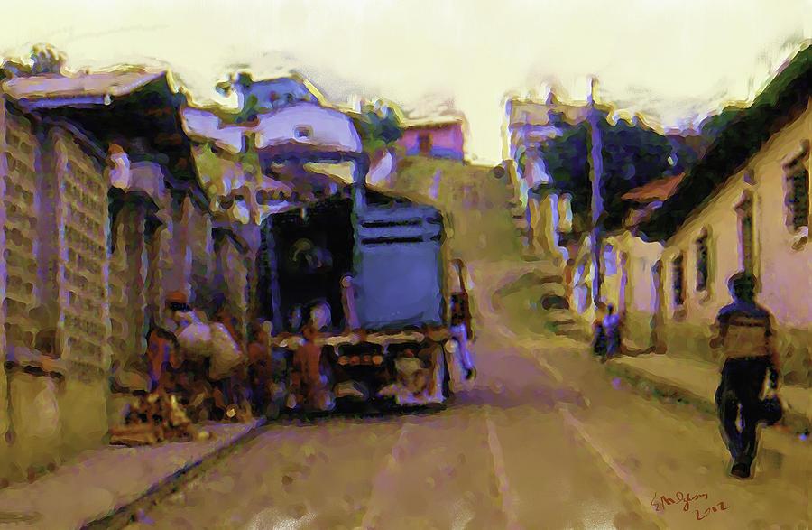 Guatemalan Street Truck Painting by Elizabeth Iglesias