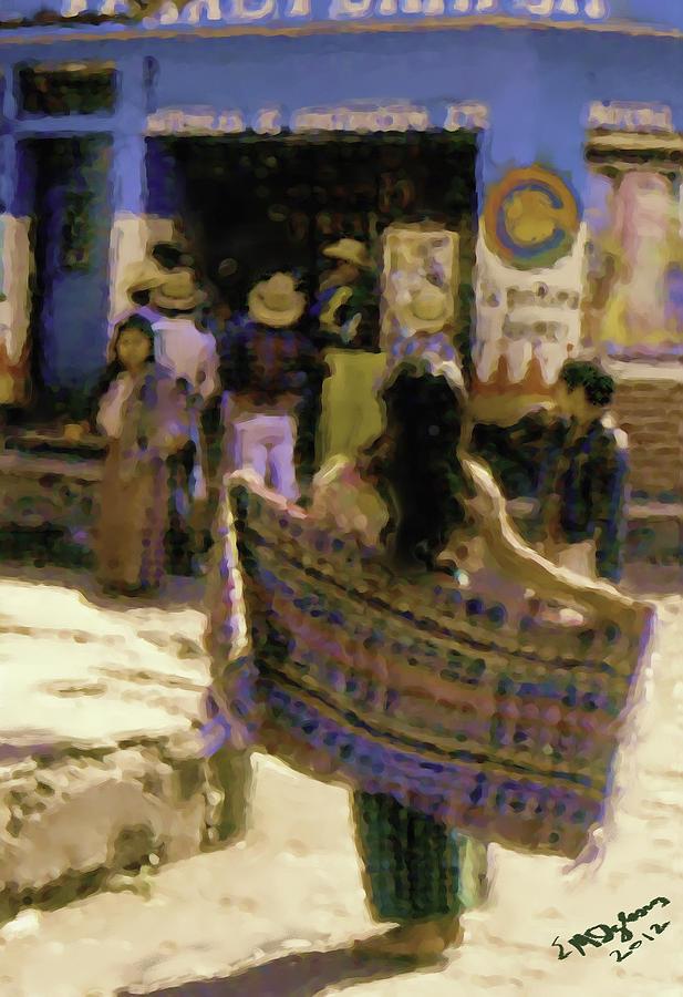 Guatemalan Girl With Shawl Painting by Elizabeth Iglesias