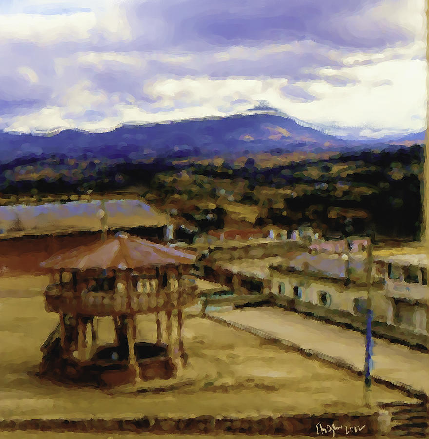 Guatemalan Roof Top Four Painting by Elizabeth Iglesias