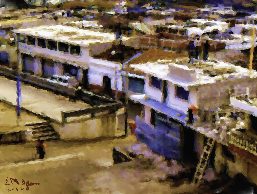 Guatemalan Roof Top Scene Painting by Elizabeth Iglesias