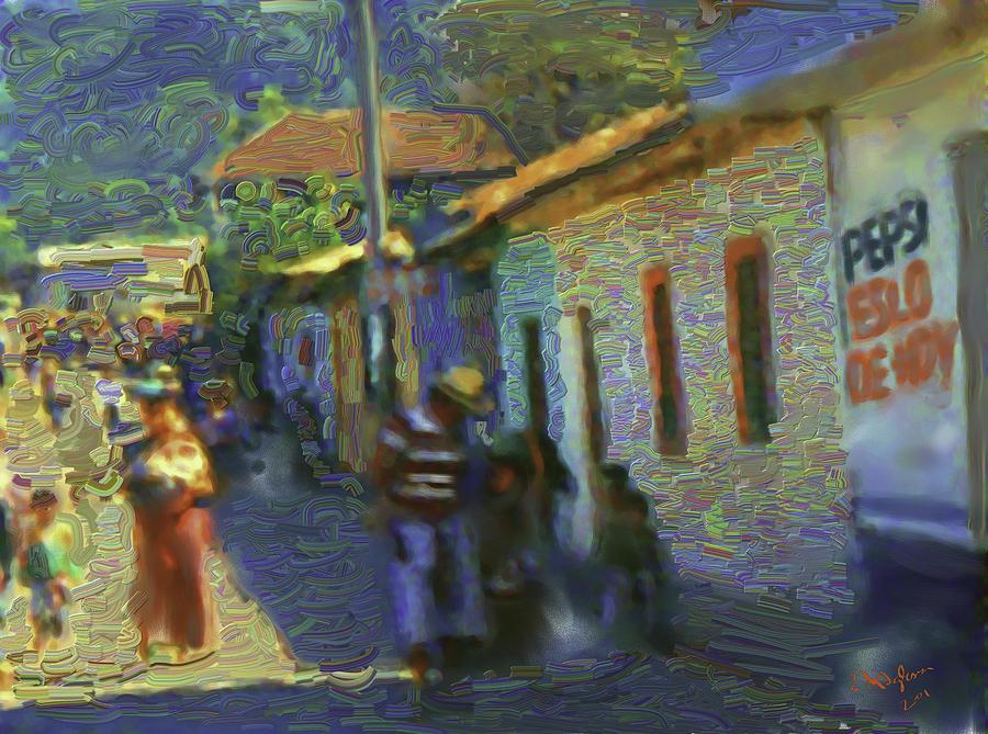Guatemalan Scene Painter Painting by Elizabeth Iglesias