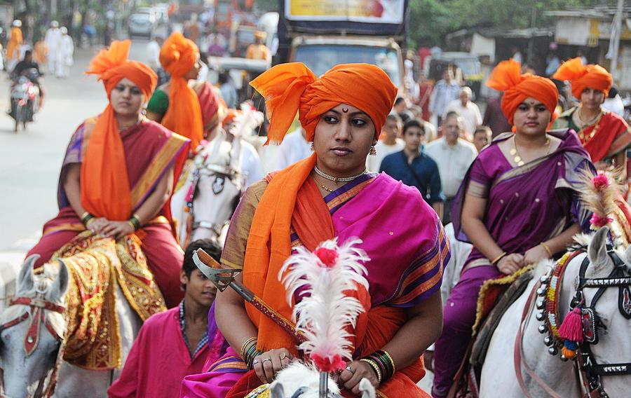 Women Warrior Photograph - Gudi Padwa by Money Sharma