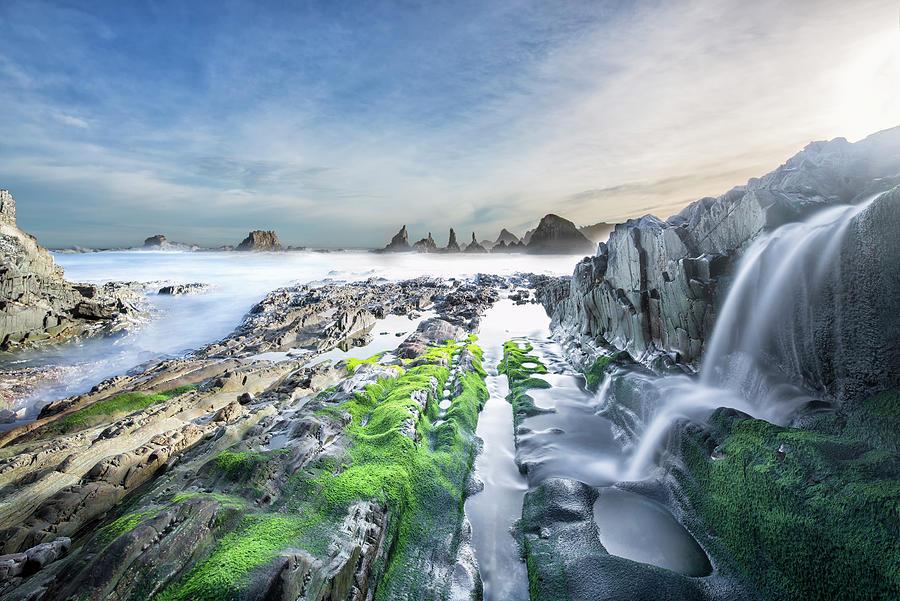 Gueirua Beach, Cudillero, Asturias Photograph by Dietermeyrl