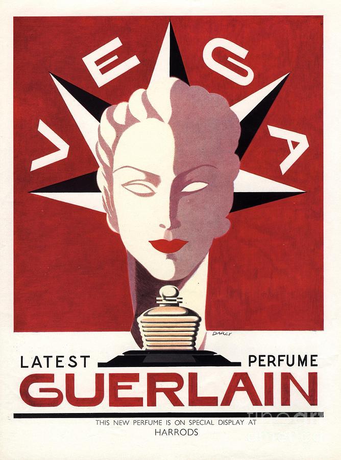 1940�s Drawing - Guerlain 1940s Uk Guerlain   Vega Art by The Advertising Archives
