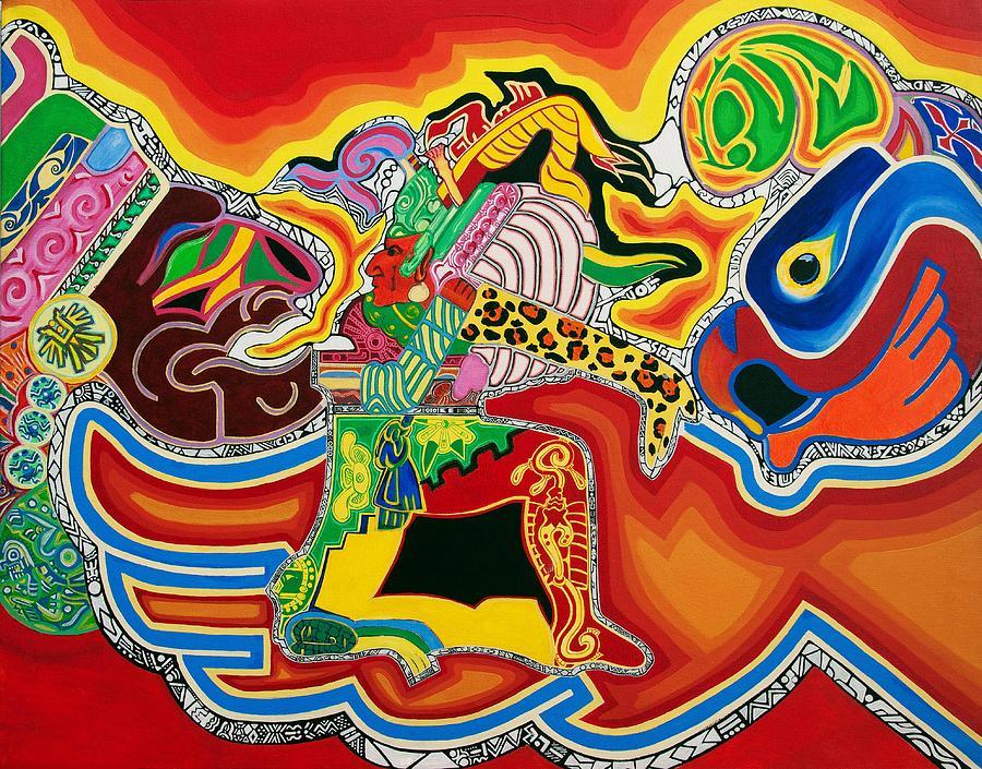 Guerrero Azteca Painting By Galiotarts