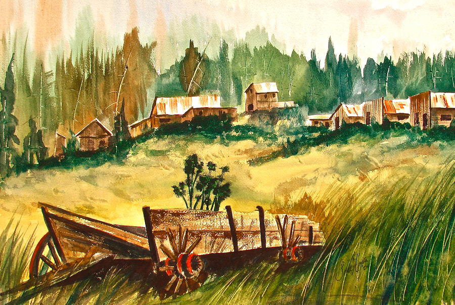 Ashcroft Painting - Guess Well Settle Here IIi by Frank SantAgata