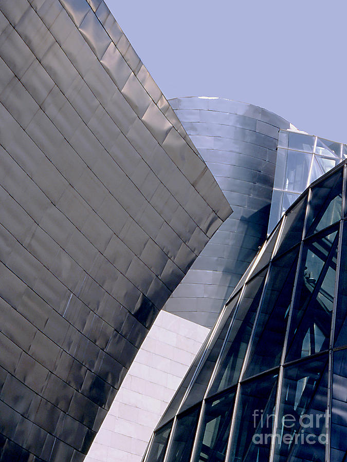 Architecture Photograph - Guggenheim 1 Bilbao Spain by Linda  Parker