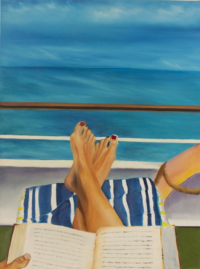 Legs Painting - Guided By Your Dreams by Marcel Quesnel