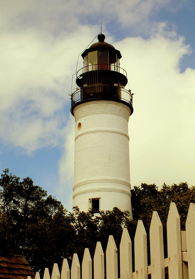 Lighthouses Photograph - Guiding Light Of Key West by Karen Wiles